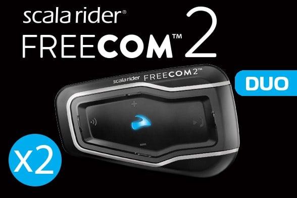 מערכת תקשורת זוגית לקסדה scala rider FREECOM 2 DUO