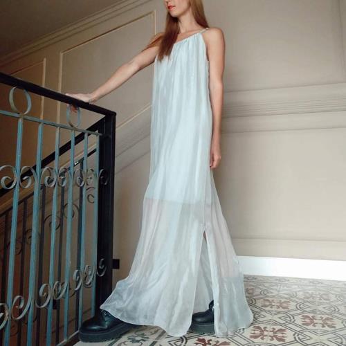 שמלת FLORENCE אפור בהיר