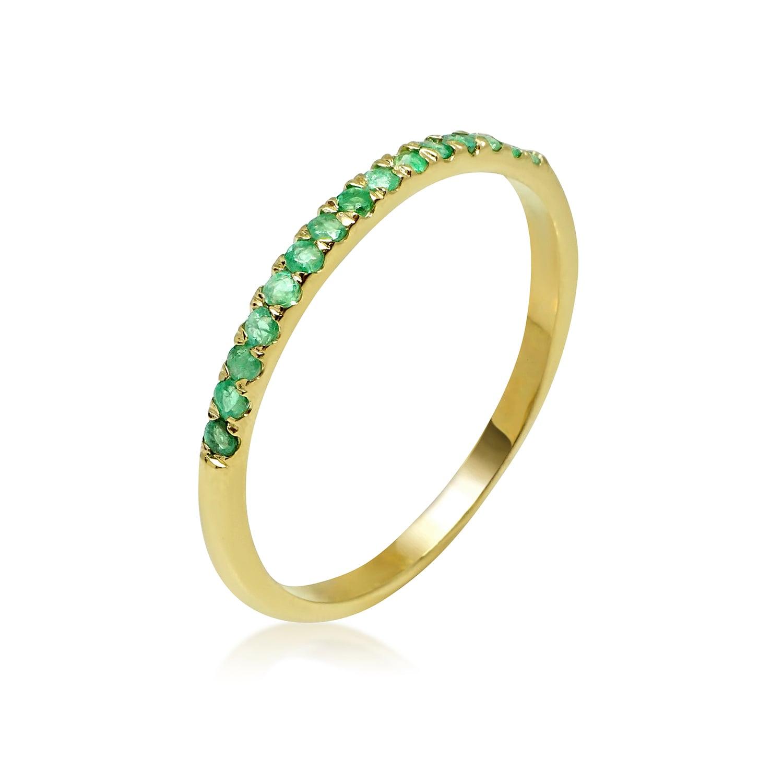 טבעת זהב מידי אמרלדים