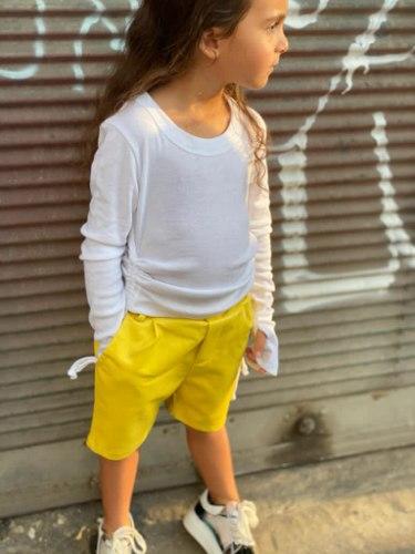 ברמודה דמוי עור צהובה  - 2-16