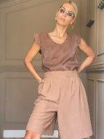 מכנסי CLASSIC קצרים -מוקה