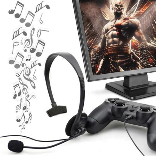 ערכת ראש מדונה אוזניה ומיקרופון לקונסולות PS4 ומחקים תואמים