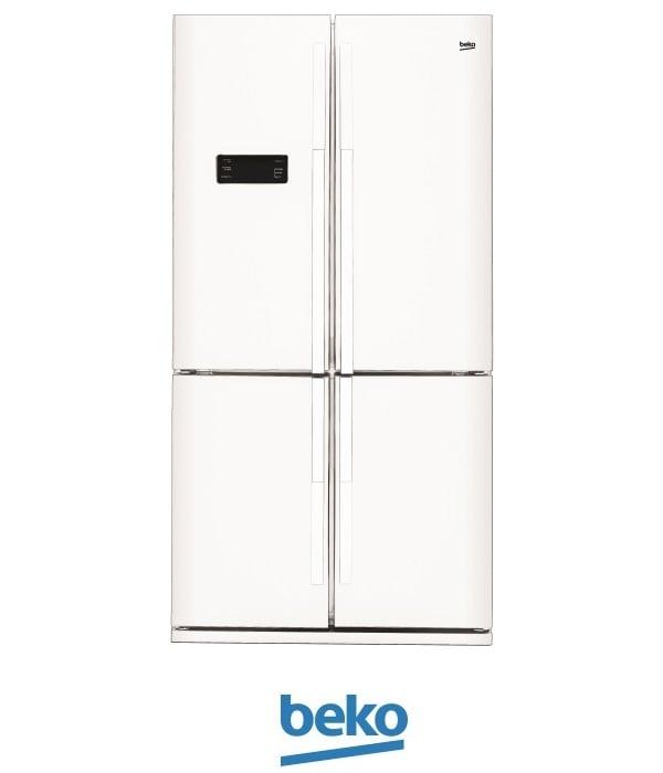 beko מקרר 4 דלתות דגם: 114611W לבן מתצוגה !