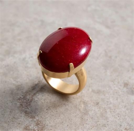 טבעת DANON - לוסידה אובלית אדום