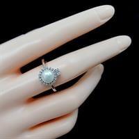 טבעת מכסף משובצת פנינה לבנה וזרקונים RG5536 | תכשיטי כסף 925 | טבעות עם פנינה