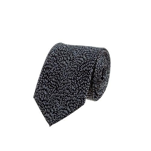 עניבה עם התפרצות זיקוק פרח אפור