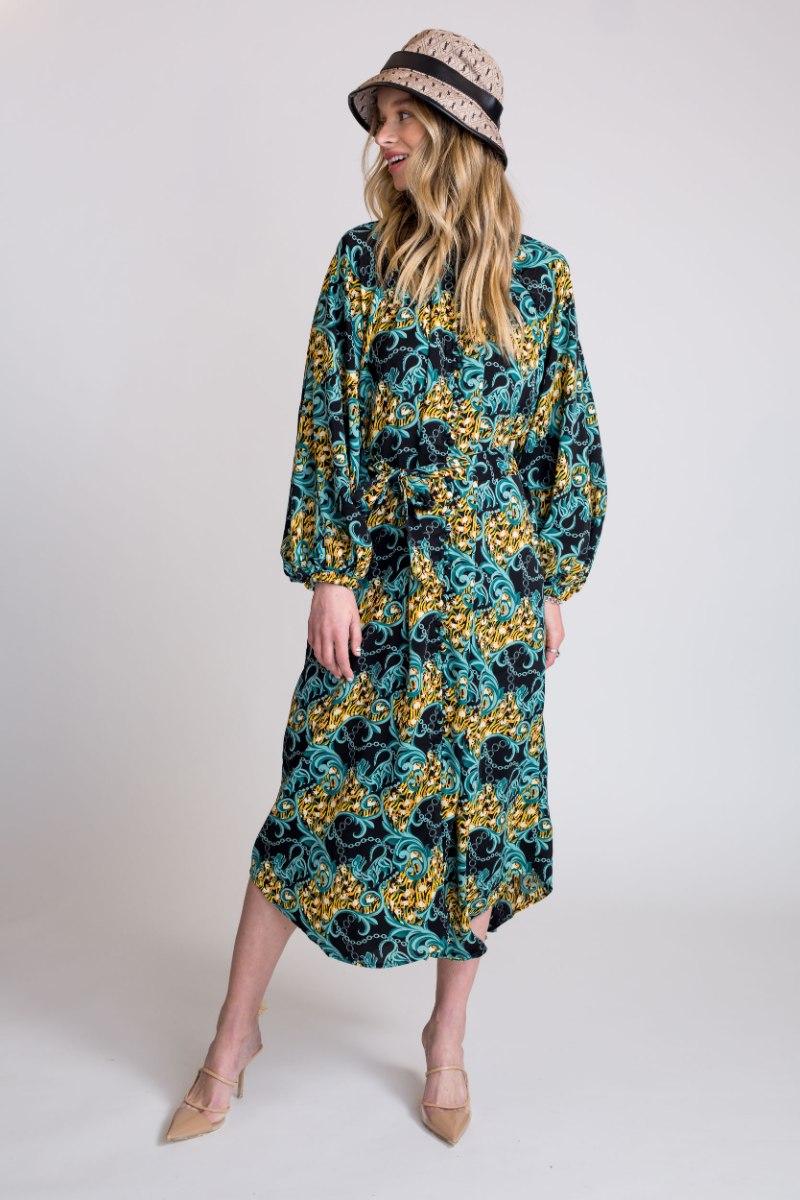 שמלת קוואלי ירוק