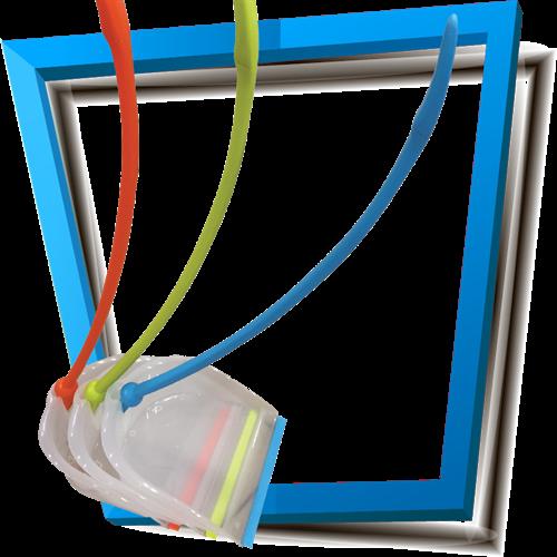 יעה+מקל פלסטיק מעוקל