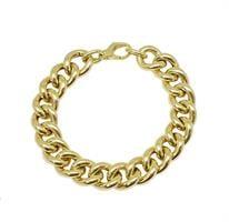 צמיד זהב חוליות לאישה מלא נוכחות