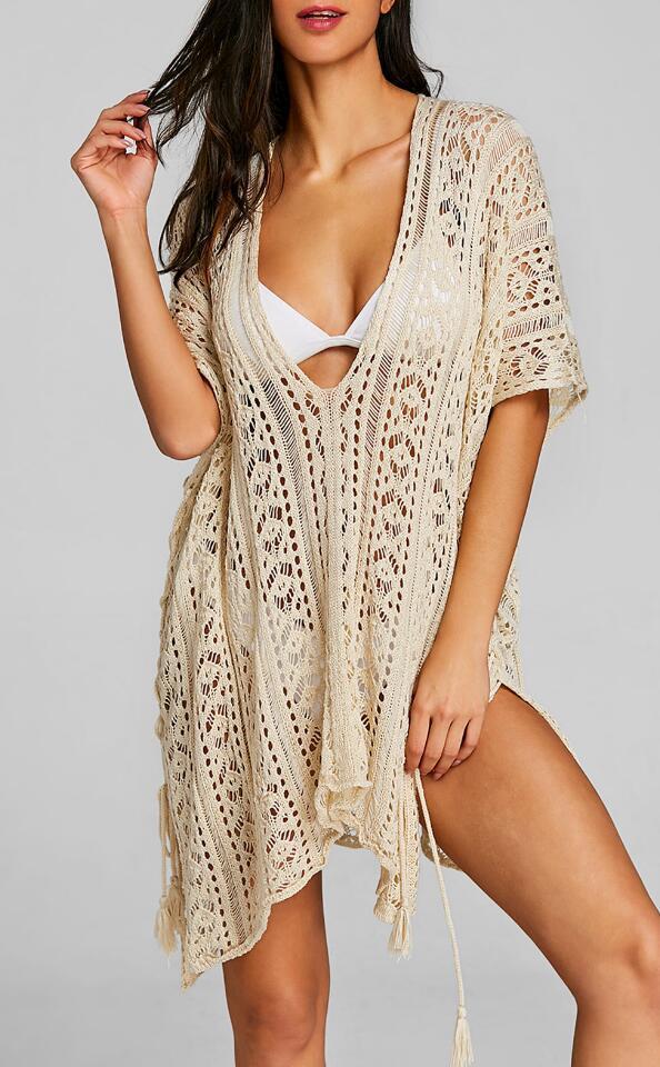 שמלה מיני לחוף בד קרושה
