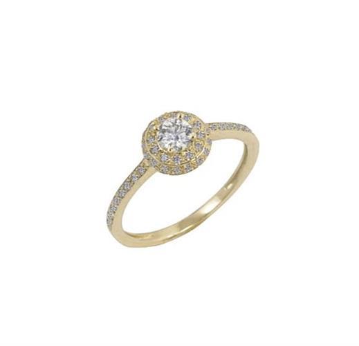 טבעת היילו יהלומים 0.50 קראט