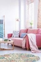 שטיח פי.וי.סי עגול ונציה  TIVA DESIGN קיים בגדלים שונים