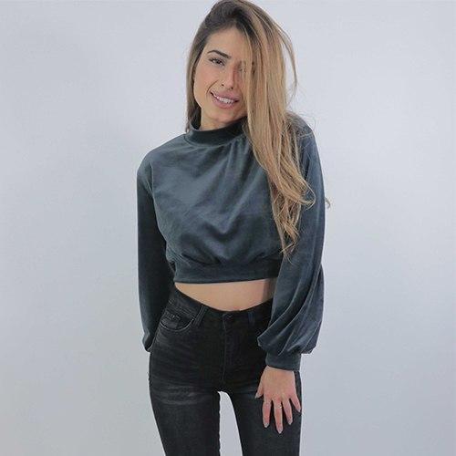 חולצת קטיפה בטן Rey-מגוון צבעים