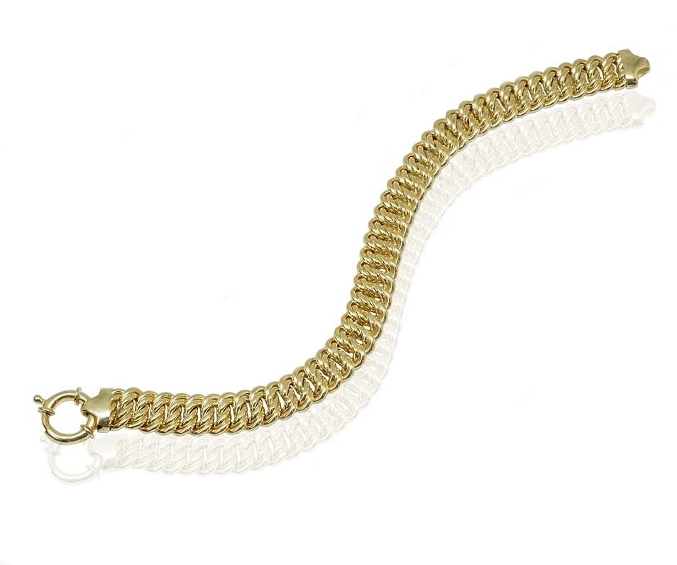צמיד זהב חוליות בינוני לאישה