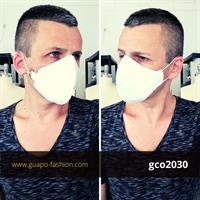 מסכת בד לבנה מכותנה protective mask
