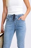 מכנס גינס קייצי משופשף