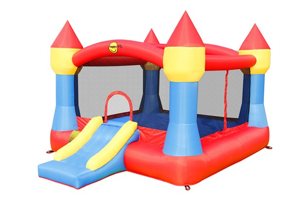 מתקן קפיצה טירה גדולה עם מגלשה הפי הופ - 9217 - Super Castle Bouncer With Slide Happy Hop