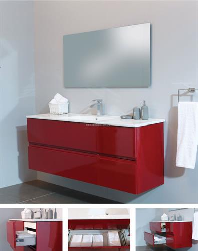 ארון אמבטיה תלוי הדס 4 מגירות