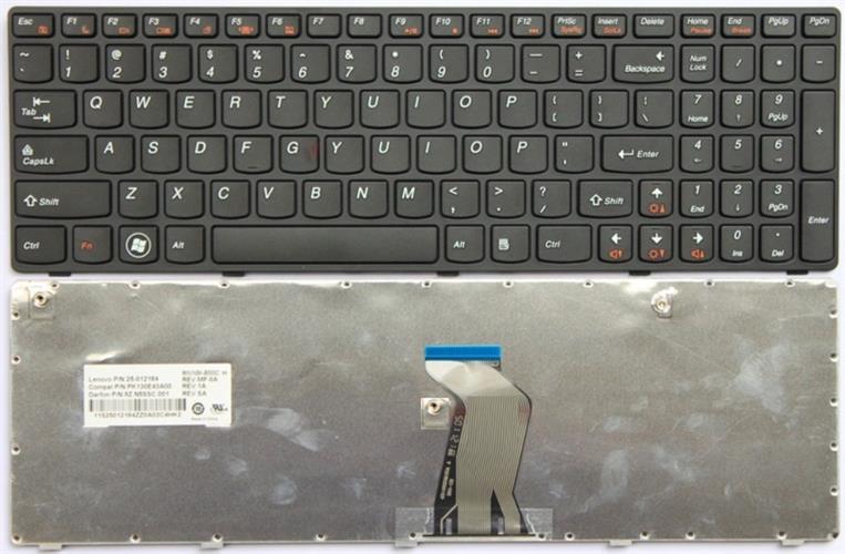 מקלדת להחלפה במחשב נייד לנובו Lenovo G770 G780 keyboard replacment 25-010793 V-117020AS1-US