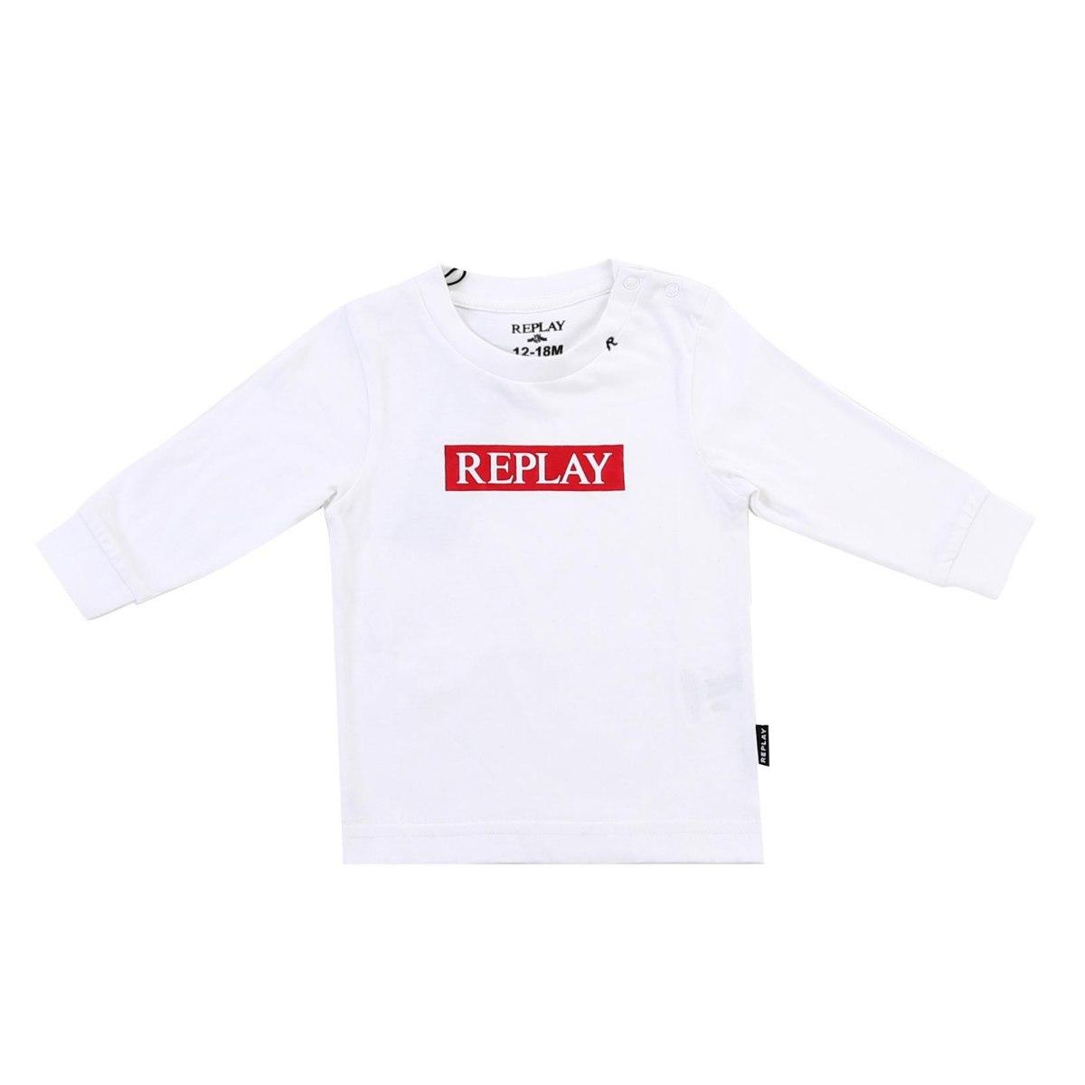חולצת T לבנה פס אדום