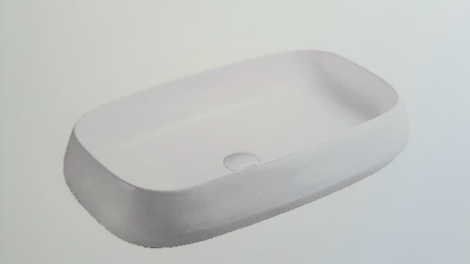 כיור רחצה מונח חרס דגם 2012 720/420/150