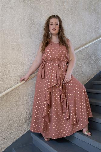 שמלת גרייס ורודה