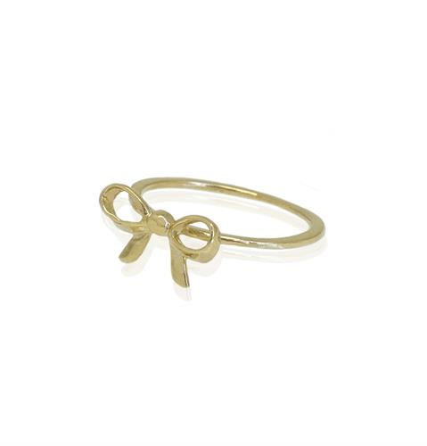 טבעת זהב פפיון|טבעת זרת|