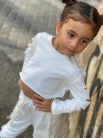 חליפת פנאי לבנה - 6-14 שנים