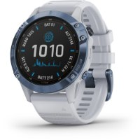 שעון דופק Garmin Fenix 6 Pro Solar Mineral blue with whitestone band