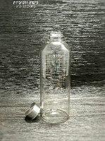 בקבוק מכסה כסוף ליטר
