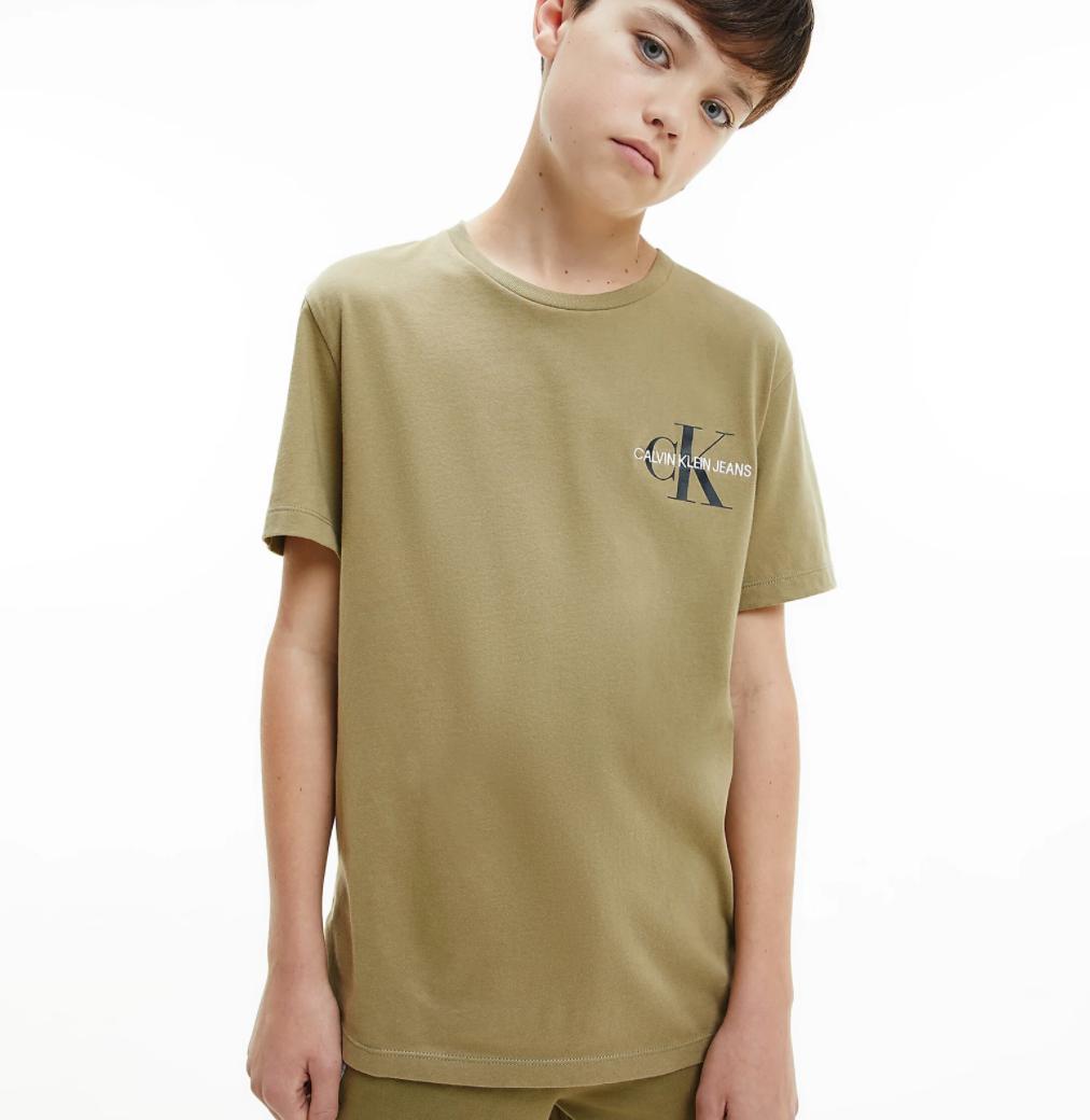 טישירט Calvin Klein חאקי - 4-16 שנים