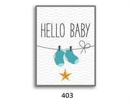 תמונת השראה מעוצבת לתינוקות, לסלון, חדר שינה, מטבח, ילדים - תמונת השראה דגם 403