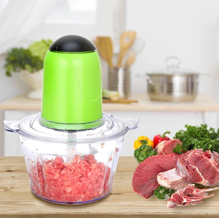 מטחנת בשר משולבת בקוצץ מזון חשמלי