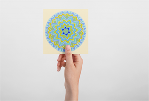 """מגנט אומנותי - מנדלת """"פרח החיים"""" - מנדלה מקורית בעבודת יד מודפסת על מגנט"""