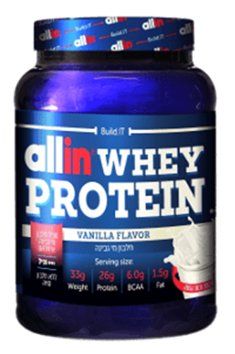 זוג אבקת חלבון אול אין – Allin Whey Protein כשרה-2.27KG