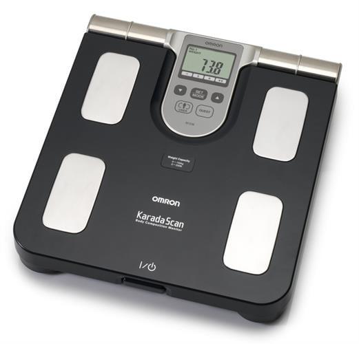 משקל אדם עם מד אחוזי שומן Omron BF508