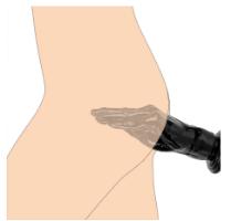 דילדו בהיר בצורת יד לחדירה עמוקה