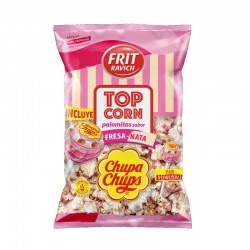 Chupa Chups Popcorn צ׳ופה פופקורן תות עם סוכריה על מקל