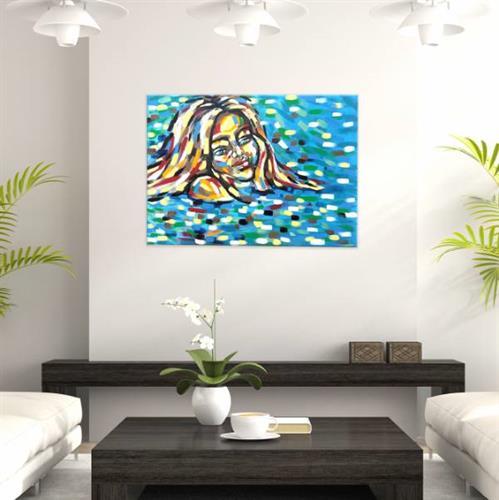 """ציור """"אישה במים"""""""