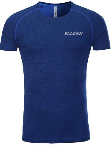 חולצת אימון מנדפת זיעה כחולה מותג  Falcon