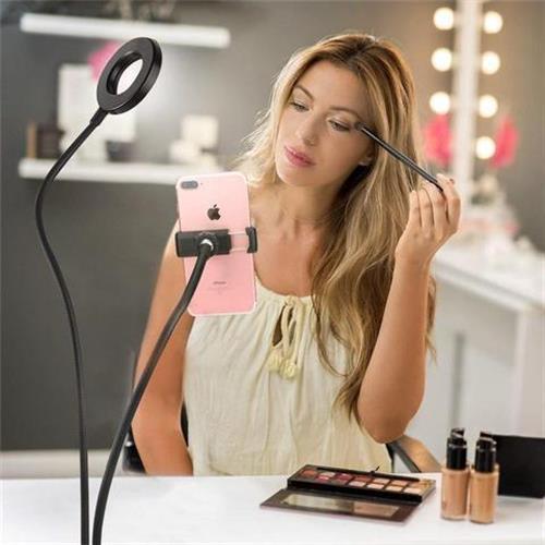 מחזיק טלפון נייד עם אור LED מקצועי