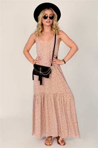 שמלת מיקונוס ורוד פרחוני
