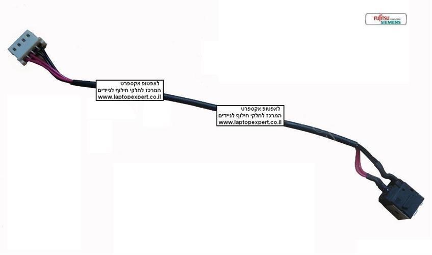 שקע טעינה למחשב נייד פוגיטסו FUJITSU LIFEBOOK AH530 AH531 AH512 Series DC Power Harnes Jack Cable