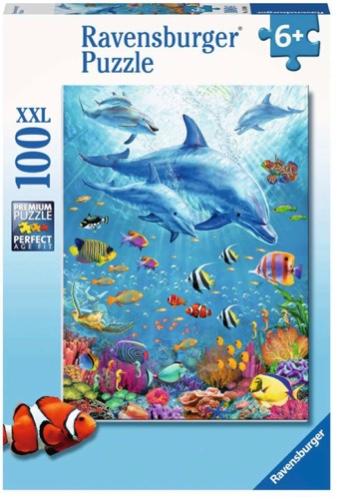 פאזל 100 חלקים דולפינים