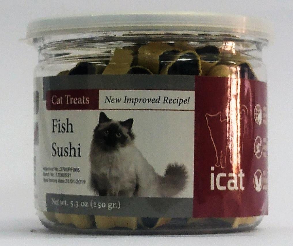 איי קאט חטיף סושי דג לחתול 150 גרם