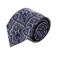 עניבה קלאסית פייזלי כחול לבן