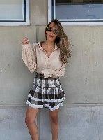 חצאית אליס משובצת