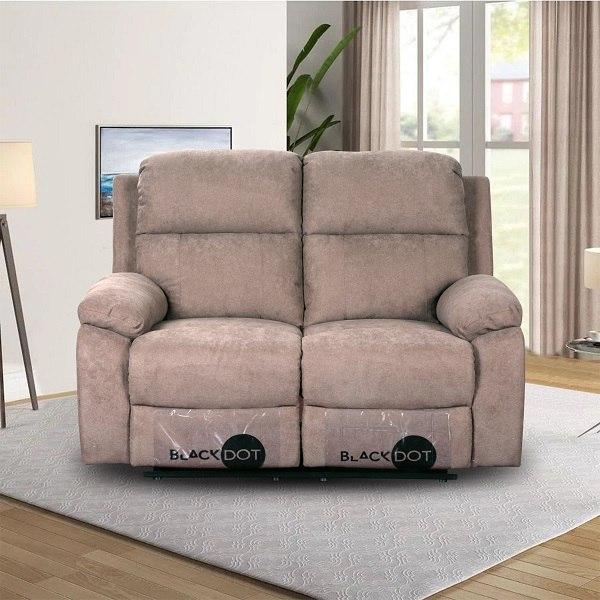 ספה 2 מושבים סיאסטה בד חום