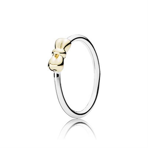טבעת כסף וזהב פנדורה 190972
