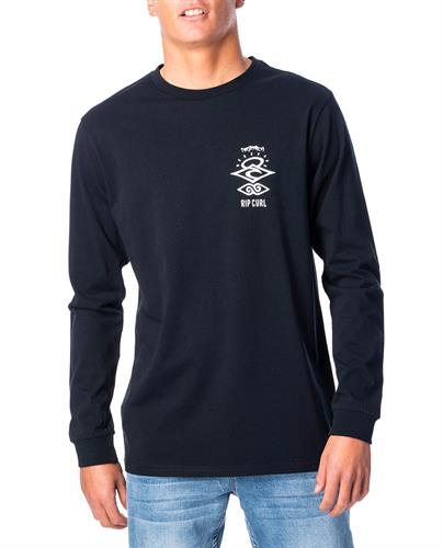 RIP CURL SEARCH LOGO L/S TEE B
